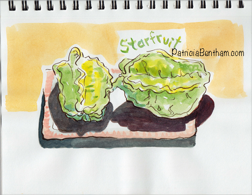 Starfruit in Watercolor