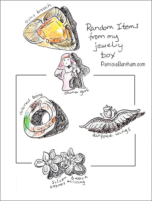 Random Items Drawing by Patricia Bentham