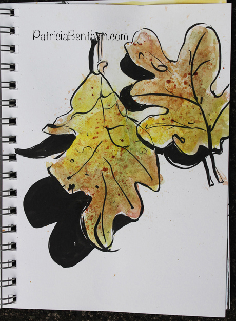 Oak Leaves - art by Patricia Bentham