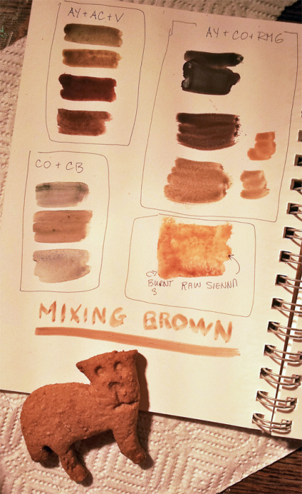Creating browns