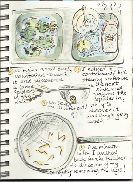Illustrated journal layouts