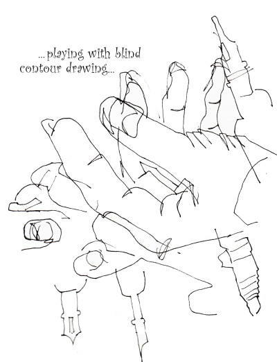 Contour Drawing Hand