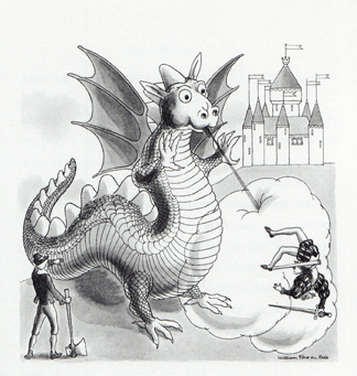Dragon Illustration 2 by William Pene du Bois