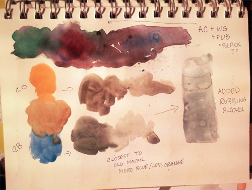 Creating grays with watercolors