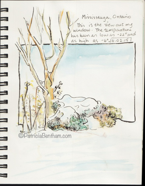 choosing a sketchbook for a Mississauga Winter