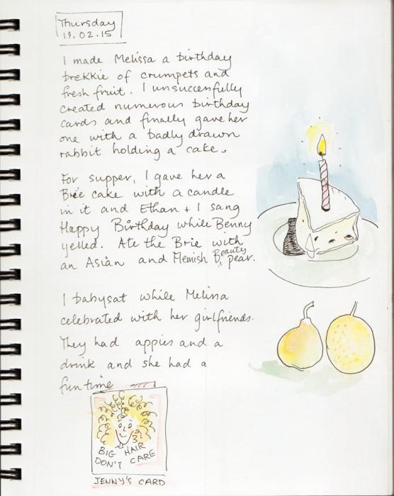 sketching a birthday